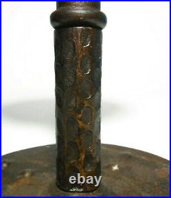 Rare Hugo Berger For Goberg /germany Arts & Crafts Early 20th C Iron Candlestick