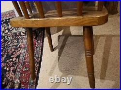 Rare & Large Early 19th Century Stick Back, Hedge Chair Antique Folk Art