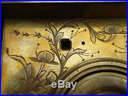 Rare Large Size Early 19th C Gilt Brass Japanese Bracket Clock Makura Dokei