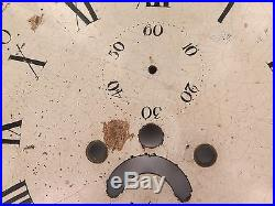 Rare Late 1700s / Early 1800s Rolling Moon Grandfather / Longcase Enamel Dial