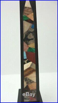 Rare Late 18th-Early 19th C. PIETRA DURA Hard Stone / Marble 10.5 Obelisk