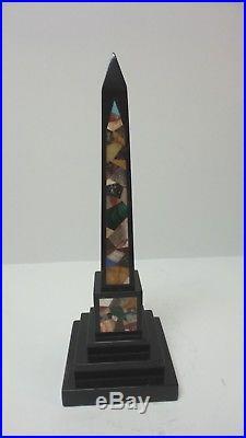 Rare Late 18th-Early 19th C. PIETRA DURA Hard Stone / Marble 10.5 Obelisk #1