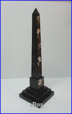 Rare Late 18th-Early 19th C. PIETRA DURA Hard Stone / Marble 16.5 Obelisk