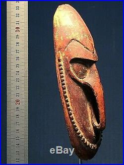 Rare MANAM island mask early 20th c ethnographic oceanic art papua PNG Sepik