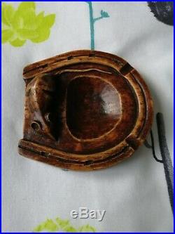 Rare Mouseman early Horseshoe pin tray, Ash tray