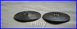 Rare Set Of 2 Early 19th Century French Enamel Portrait Buttons In Leather Case