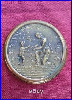 Rare Signed Antique French Gold Gilt Snuff Box Napoleon Bonaparte Early 1800s