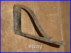 Rare Small Early Hearth Fireplace Wrought Iron Pot Kettle Swivel Hook Crane