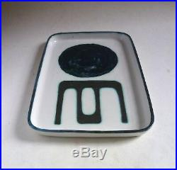 Rare TROIKA Pottery Early Rectangular DISH. St Ives Cornwall. Modernist Abstract