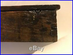 Rare and early wooden box, tinderbox  17th century or earlier
