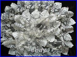 Rare dentelle ancienne blonde de soie early 19th c antique silk blonde lace