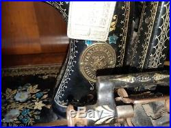 Rare early 1900's Adolf Knoch Sewing machine mother of pearl inlay