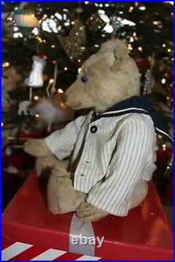 Rare early 19 White Bing teddy bear c1910