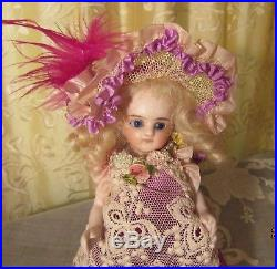 Rare early Antique all Bisque French Mignonette Doll swivel neck sleep eyes 1880