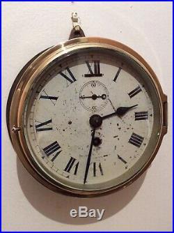 Rare early Military Ships Bulkhead clock by Smiths English Clocks 1940