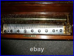 Rare early leaver wind cylinder music box