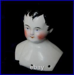 Rare mysterious early china boy doll Meissen Dornheim