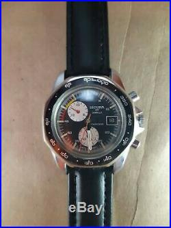 SICURA (early Breitling) rare vintage Swiss chronograph watch