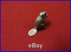 S. Kirk & Son Solid Sterling Silver Miniature Beaver Figurine Early Edition Rare