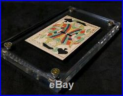 Scarce Early Innovative Turned Court Example Historic Playing Cards Rare Single