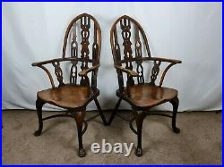 Stunning Rare Pair of Early Victorian 1850's Windsor Yew and Elm Chairs