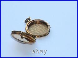 Superb Rare Antique Late Victorian Early Edwardian Old Gold Colour Photo Locket