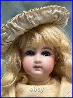Tiny rare early long face antique Bebe Schmitt doll mariner costume perfect