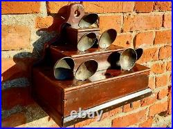 Unusual / Rare Early 19thC Welsh Antique Spoon Rack of Stepped & Pyramid Form