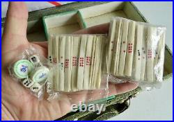 VERY RARE OLD CHINESE MAH JONG SET STILL SEALED 100% COMPLETE EARLY 1900's