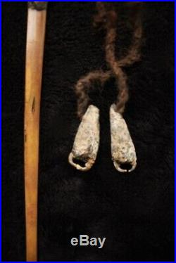 Very Rare Aboriginal Pointing Bone w Birds Talon Nails Central Aus Early 20thC
