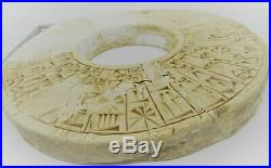 Very Rare Ancient Near Eastern Clay Tablet With Early Form Of Writing Ring Form