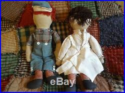 Very Rare Antique Toy P. F. Volland Raggedy Ann & Andy Dolls Circa Early 1920's