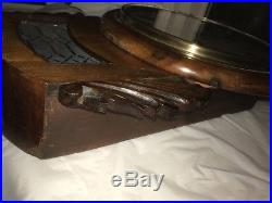 Very Rare Drop Dial E N Welch Wall Clock Rosewood Early Victorian Unusual