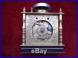 Very Rare Early 19th C Gilt Brass Japanese Bracket Or Table Clock Makura Dokei