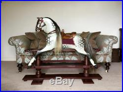 Very Rare Early Antique Unattributed 38 Rocking Horse Fully Restored