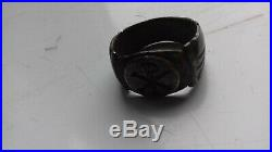 Very Rare Early Christian Silver Chi-rho Ring