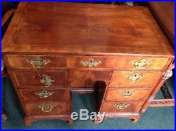 Very Rare Small Early 18th Gentury Walnut Kneehole Desk 200-300 years Old