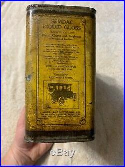 Vintage Early Rare Antique Polarine 1913 Standard Oil Half 1/2 Gallon Oil Can