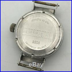 Vintage Early VOSTOK Eared AMPHIBIAN Lugs Diver 20ATM Watch Soviet Luminous Rare