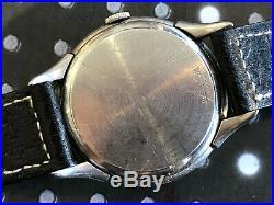 Vintage Gruen pilots mens wristwatch Rare early 24hr dial 420 pan am sector dial