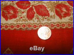 Vintage WONDERFUL RARE ANTIQUE EARLY TURKEY RED BANDANA WORKWEAR 19 x18.5